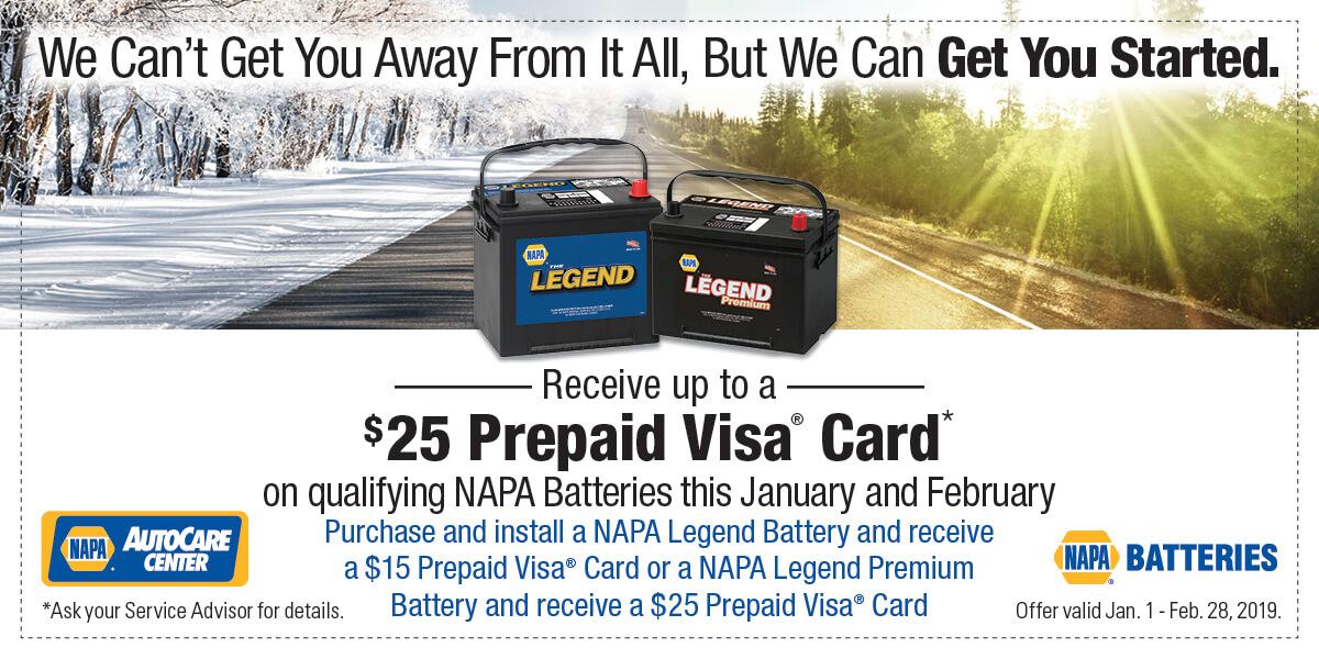 NAPA $25 Visa Promo