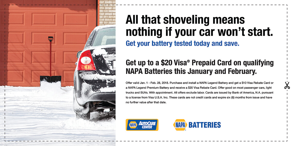 NAPA Winter Battery Promotion