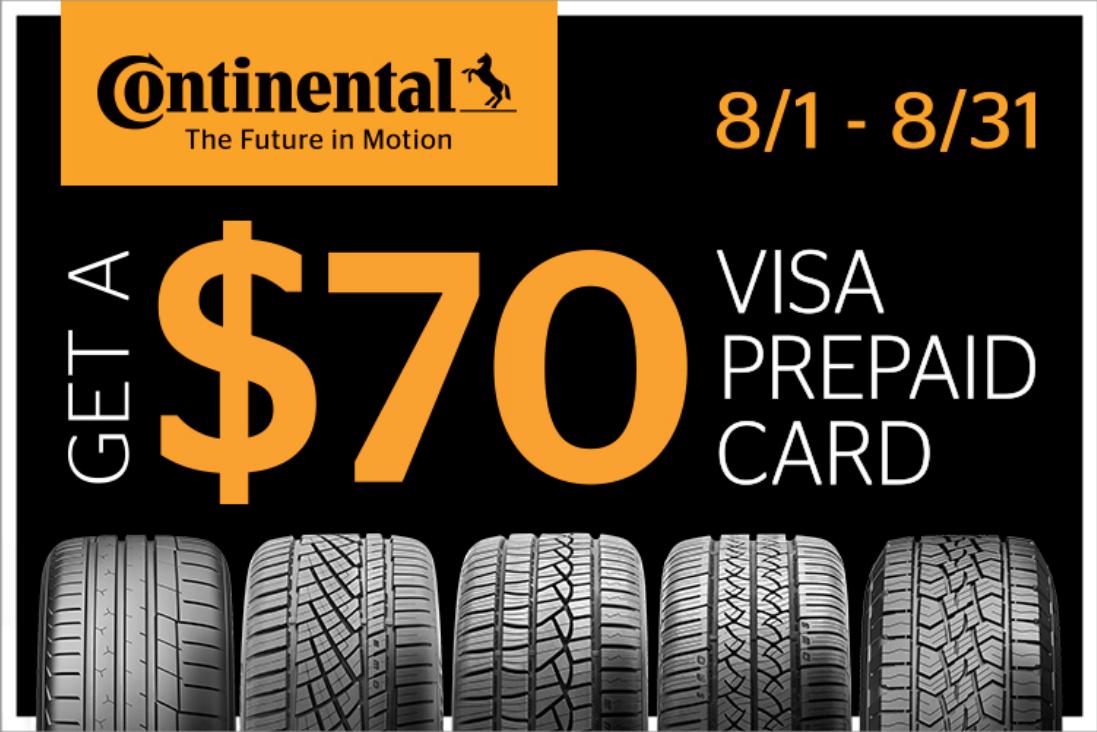 Continental Tire $70 Rebate