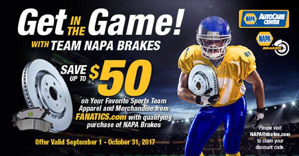 NAPA Brakes Special